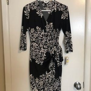 International Concepts Black and White Dress